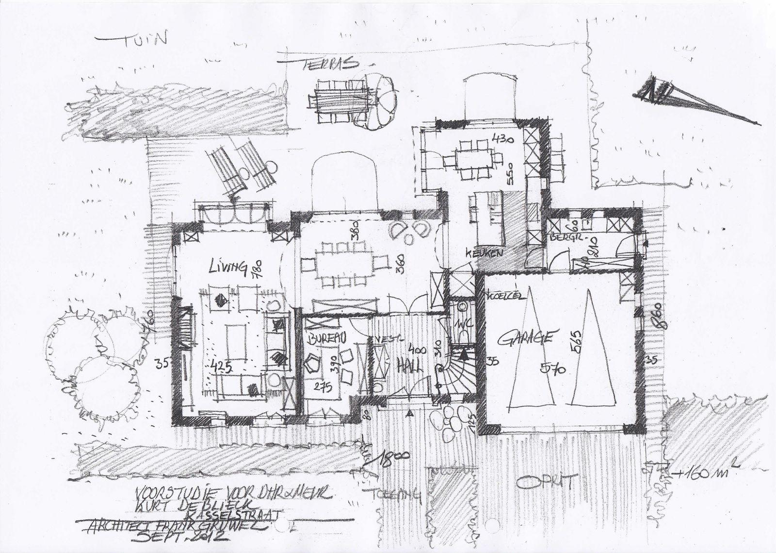 Modern huis bouwen architect luxe woningen for Grondplannen woningen